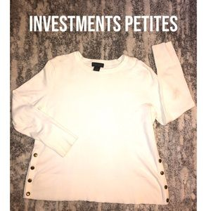 2 for$30🍏 INVESTMENTS PETITES Sweater